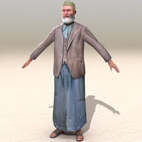 3d model arab afghani casual 08