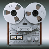 3d reel tape recorder akai