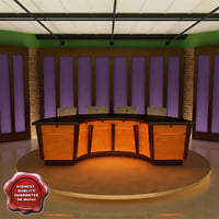 3ds max news tv studio v2