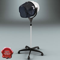 salon stand hair dryer 3d model