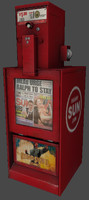 3d newspaper box model