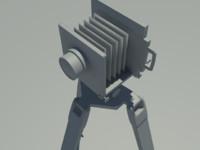 3d model camera 1800s