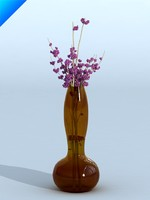 glass vase with flower 03