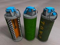 3d open hand grenade cross section