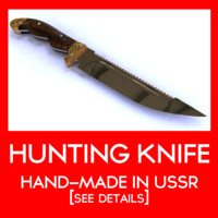 3d hunting knife ussr model