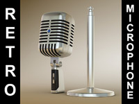 3ds max retro microphone