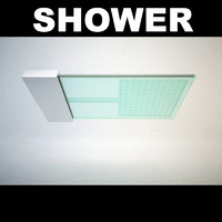 3d shower fixture head