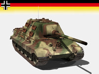 german jagdtiger tiger 3d model