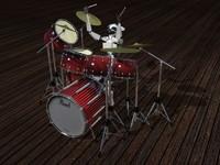 3d model drum battery