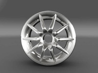 3ds max car tyre rim