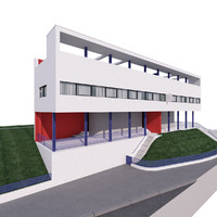free modern architecture building 3d model