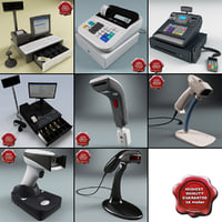 cash registers barcode scanners 3ds