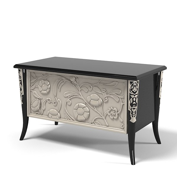 Elledue bedroom night stand B 602 art deco glamour classic elle due.jpg
