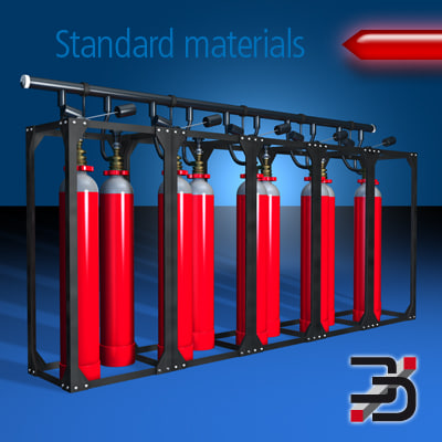 Gas fire extinguishing-system