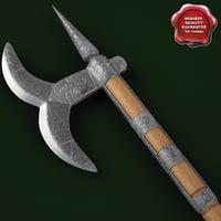 3d model medieval axe v10