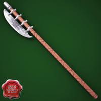 medieval axe v11 3d model
