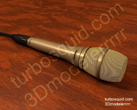 3d model of microphone shure ksm9