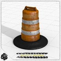 3d safety traffic barrel