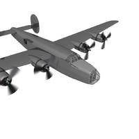 free b-24 liberator 3d model