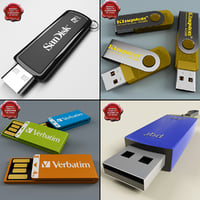 usb flash drives v1 3d model