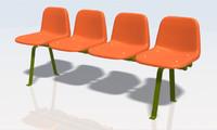3d model bench 01