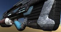 free futuristic gun 3d model