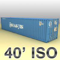 ISO shipping container 40 feet