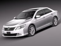 toyota aurion sedan 2012 3d model