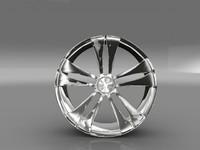 3d car tyre rim model