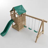 3d playground set model