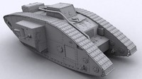 3d model of british mark v