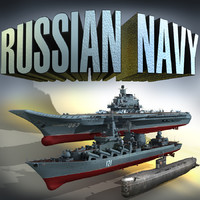 russian navy submarine 3d max
