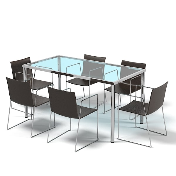 3d model dining table set for Dining table models