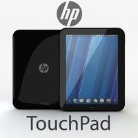 3d hp touchpad touch model