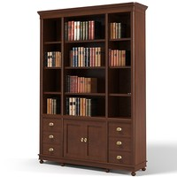 Library traditional cabinet classic bookcase
