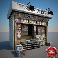 newspapers shop 3d model