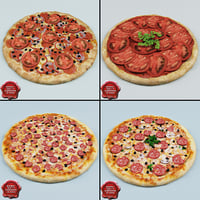 3d model pizzas modelled