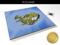 iceland resolution relief maps 3d max