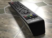3d model tv remote