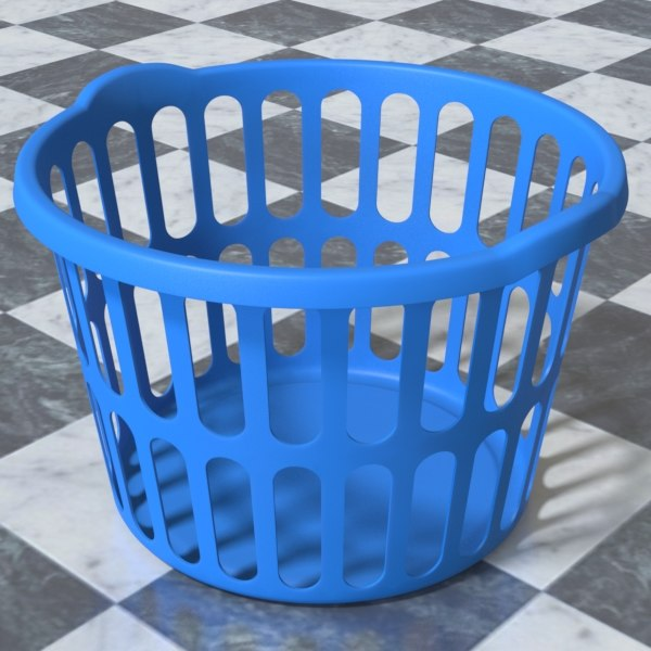laundry hamper 3d model - Laundry Hamper... by HCGremlin