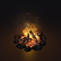Animated Game Campfire