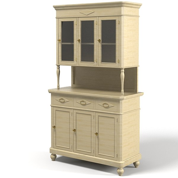 Traditional classic country cupboard sideboard kitchen buffet.jpg
