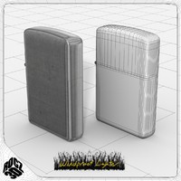 windproof lighter 3d model