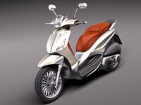 3d model piaggio bv tourer 300