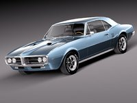3d model of pontiac firebird antique