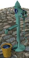 3d max pump garden vintage