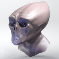character science alien 3d model