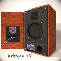 3dsmax speaker realistic