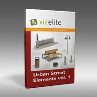 street elements 3d dxf