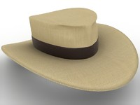 indiana jones hat 3d obj